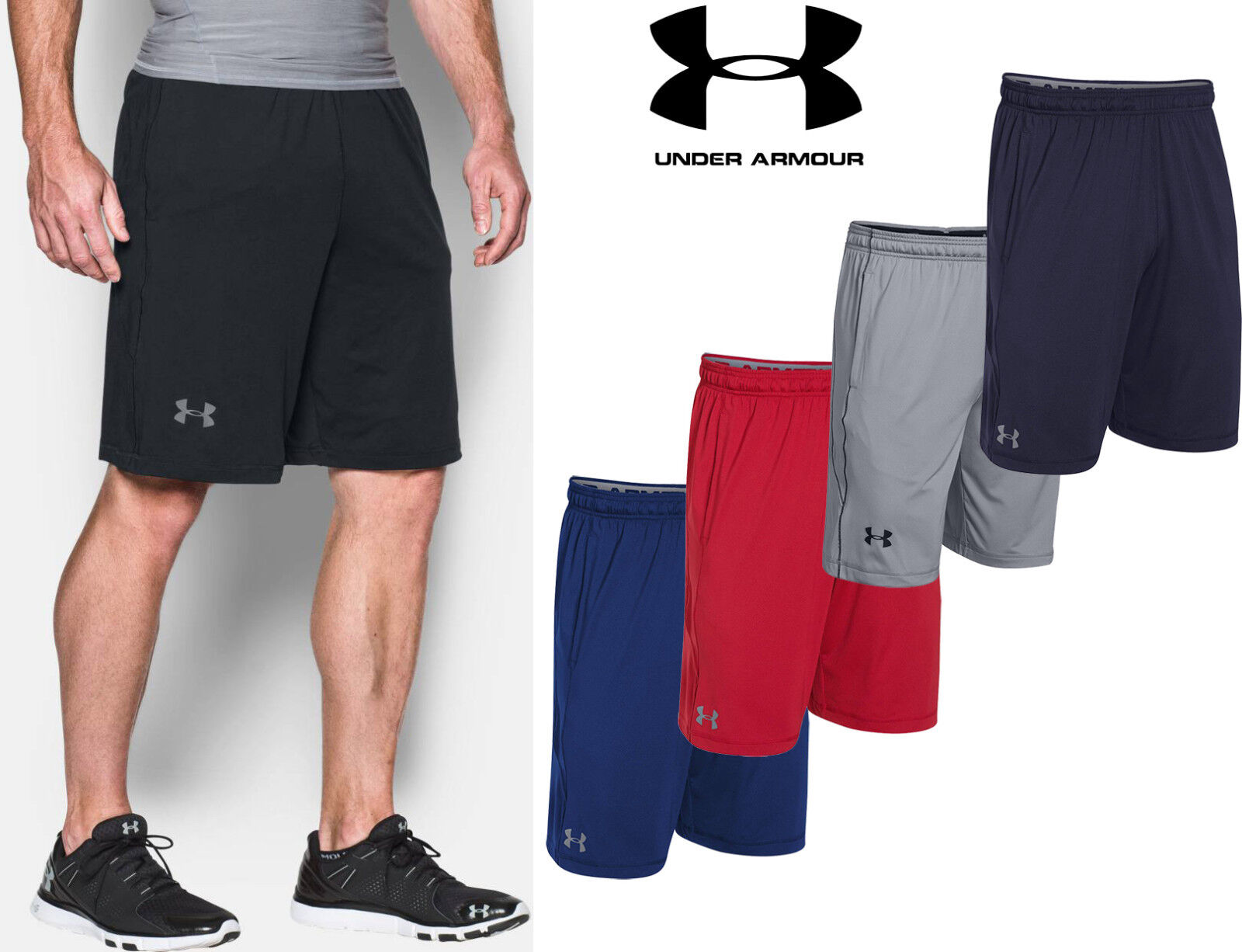 Mens Under Armour Raid Shorts Hand Pockets 10 In and 8 In Ac