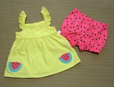 New Small Wonders Size 6-9 Month Baby Girl Tunic Bloomers Dress Bright Colorful