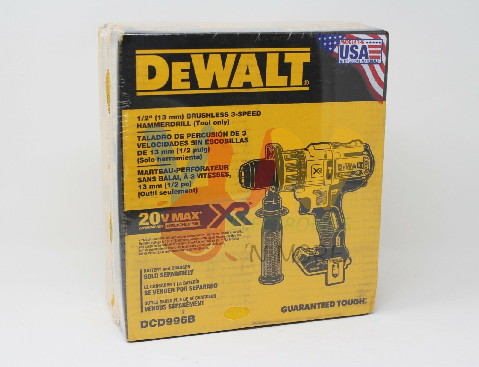 DeWALT DCD996 20V MAX XR Cordless Li-Ion Brushless 3-Speed 1