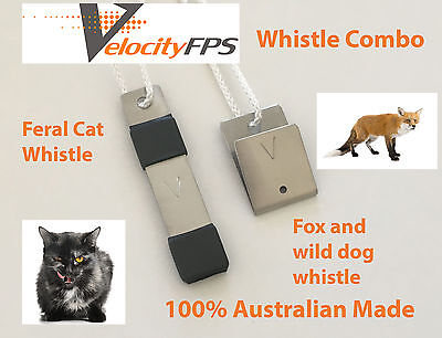 Best Fox Whistle, Dog Whistle and Feral Cat Whistle Twin Pack, Dog Cat Fox