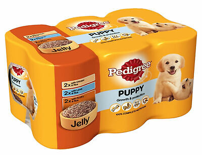 Dog food Pedigree Puppy in Jelly Food Tins 6x400g