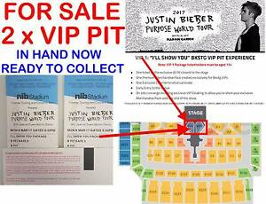 2 x JUSTIN BIEBER PERTH VIP PIT - I'll show you package (Pickup) Subiaco Subiaco Area Preview
