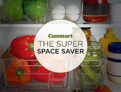 Cuisinart Freezer and Fridge Organizer Bin, Small- 4.25 x 14.5 x 4in 4