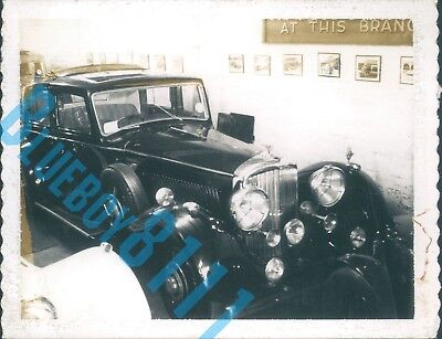 1930's Derby Bentley 4.25 ltr  Dealer Stock Photo Polaroid 4 x 3 inches