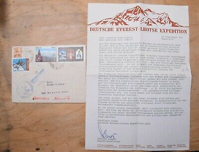 Nepal 1972 German Everest Lhotse Expedition Cover & Letter