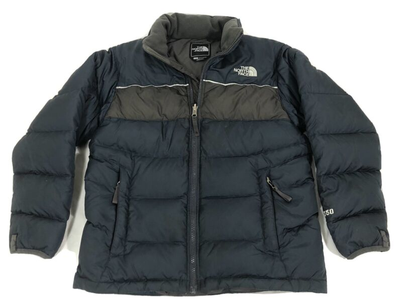 Boys The North Face 550 Down Fill Puffer Winter Jacket Sz Large TNF