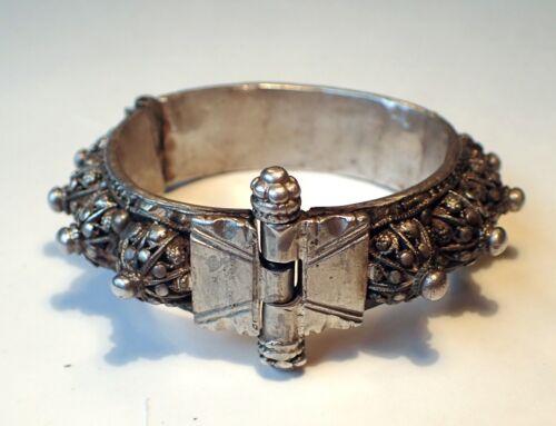 Antique India Silver Wrist Tribal Ethnic Vintage  Bracelet  98 g