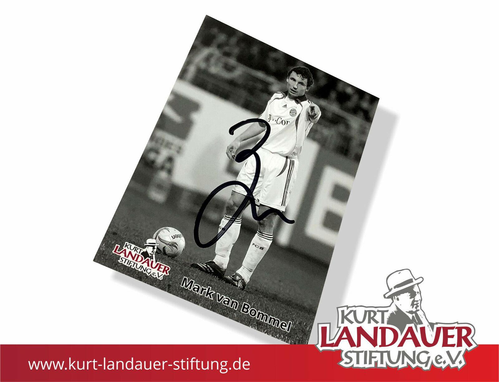 Autogrammkarte Mark van Bommel -  Kurt Landauer Stiftung - FC Bayern München