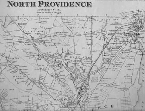 North Providence RI 1870 Maps with Homeowners Names Shown