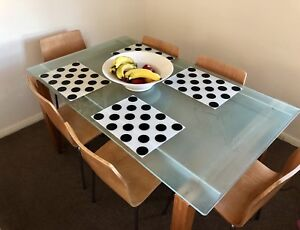 Dining Table & Chairs - Glass Top