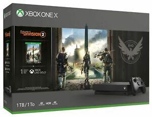 Microsoft Xbox One X 1TB Tom Clancy's The Division 2 Spielkonsole Bundle -  Schwarz