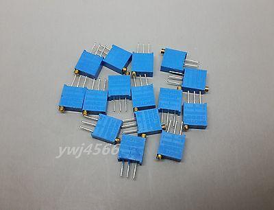 15pcs15 Kind 3296 Trimmer Trim Pot Resistor Potentiometer100r500k Assort Kit