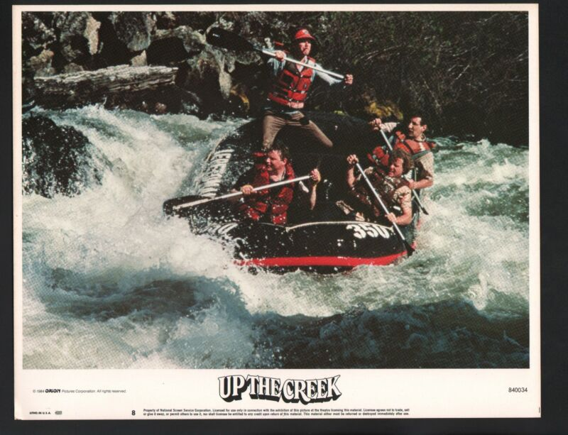 Up the Creek Lobby Card #8-1984-Tim Matheson and Stephen Furst