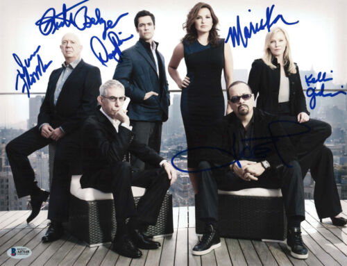 LAW AND ORDER SVU CAST SIGNED 11X14 PHOTO X6 BECKETT BAS AUTOGRAPH AUTO A