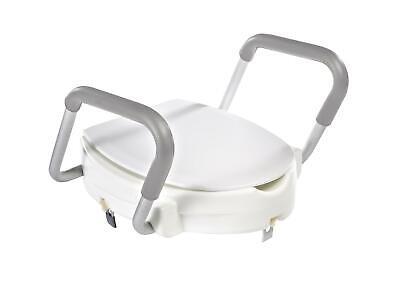 RIDDER WC-Erhöhung mit Griffen und Deckel weiß WC-Sitzerhöhung Toilettenerhöhung