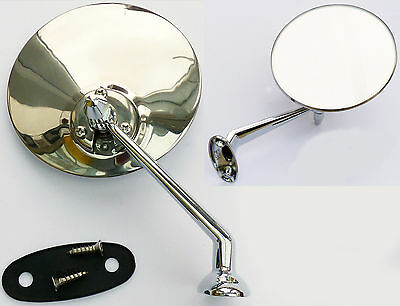 (Lucas Style Classic Car Adjustable Left or Right Hand Chrome Door or Wing Mirror)