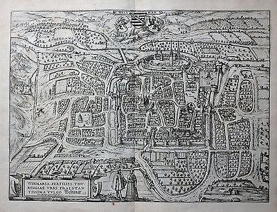 THÜRINGEN WEIMAR WINMARIA BRAUN HOGENBERG PRÄCHTIGE ANSICHT WAPPEN FIGUREN 1581