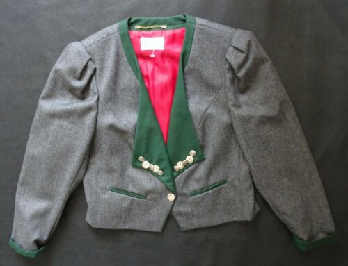 Dirndl Jacket Trachten NEW German  Tailored Loden 12