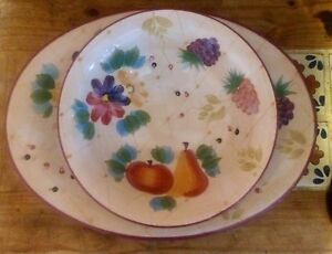 Serving platter and bowl