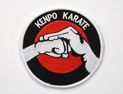 KARATE KENPO Flame brown Iron on PATCH Aufnäher Parche brodé patche toppa kempo