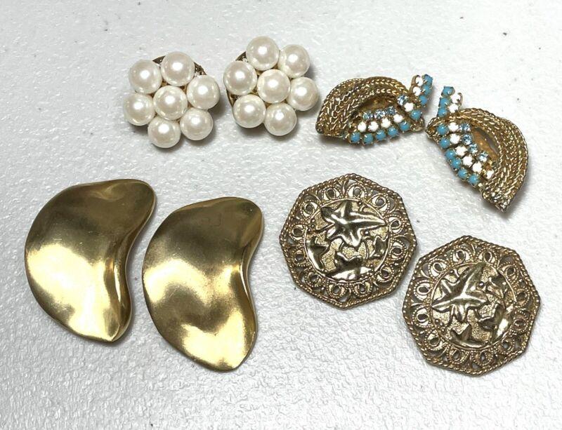 Vintage Earring Lot Designer  Les Bernard Barrera For Avon Hobe Trifari