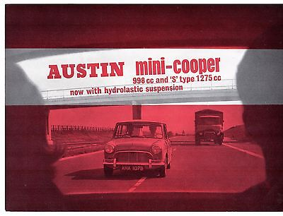 Austin Mini Cooper Mk1 1964-67 UK Market Sales Brochure 998 1275 S