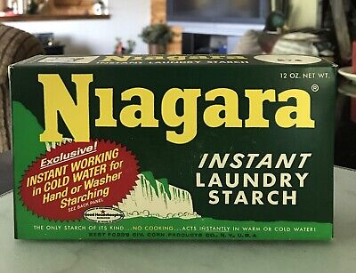 Vintage Niagara Instant Laundry Starch Box Full Sealed 12 oz.