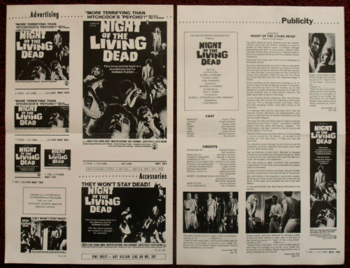 Night of The Living Dead 1968 Press Book Judith O