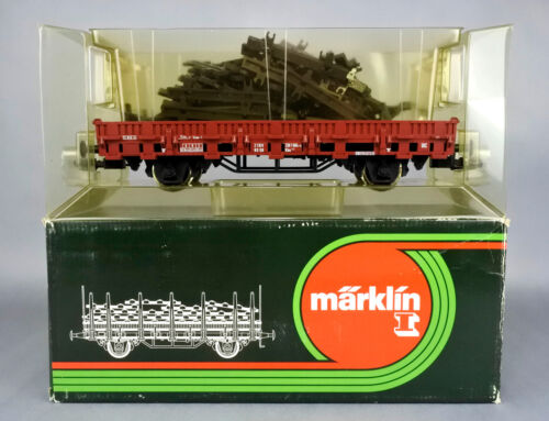 MARKLIN 1 GAUGE 5870 DB STAKE CAR WITH TRACK LOAD #336 1604
