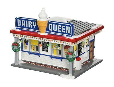 Department 56 Snow Village Dairy Queen Lit Building 2 Pounds Decals Represent