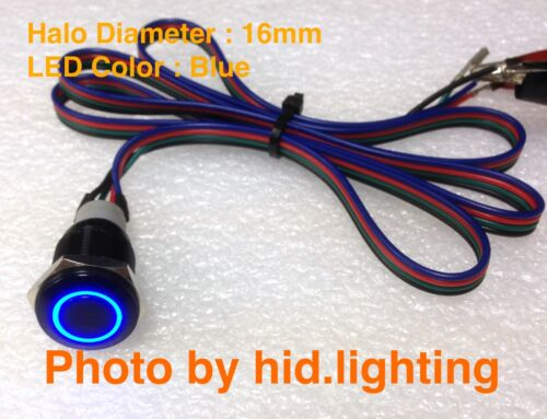 BMW E60 Sport mode unlock cable wire pins Blue LED Button 16mm 5 series wiring