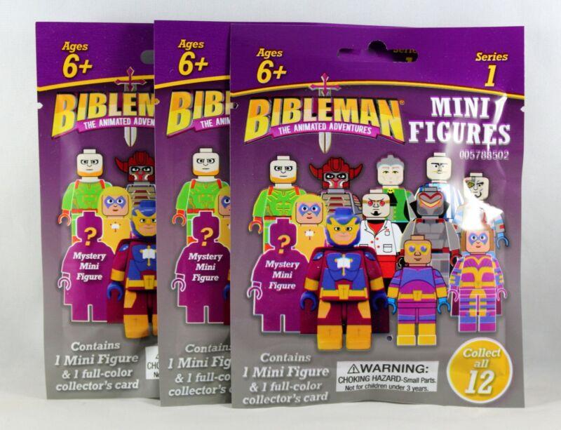 Bibleman Mini Figures 3 SET Mystery NEW Mini Figures & Collector's Cards