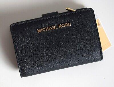 MICHAEL KORS Geldbörse Portemonnaie Wallet JET SET TRAVEL BIFOLD ZIP schwarz