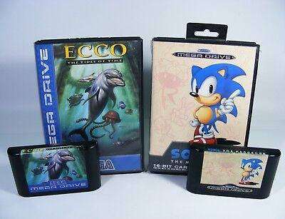 SONIC 1 und ECCO TIDES OF TIME für Sega Mega Drive B-WARE - Spiel Modul + OVP comprar usado  Enviando para Brazil