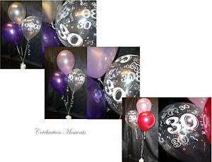 Happy-30th-Birthday-Party-Helium-Balloon-Decoration-DIY-Clusters-Kit-10-tables