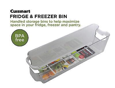 Cuisinart Freezer and Fridge Organizer Bin, Small- 4.25 x 14.5 x 4in 1