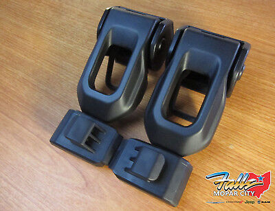 2007-2019 Jeep Wrangler JK and JL Left and RIght Hood Latch Set Mopar OEM (Right Hood)