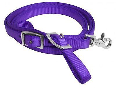 "Showman Purple 96"" x 5/8"" Premium Nylon Contest Reins"