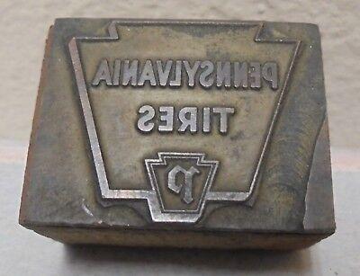 Vintage Printing Letterpress Printers Block Pennsylvania Tires