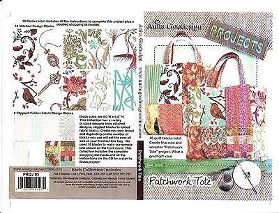 Anita Goodesign Embroidery Cd (Anita Goodesign Patchwork Tote Embroidery Machine Design CD NEW)