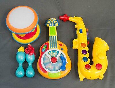 Spanish Toys (5 Toy Instruments LeapFrog Spanish Guitar Saxphone Drum Little Mermaid Maracas)
