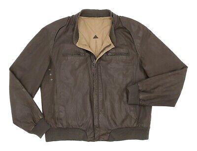 Vintage REVERSIBLE Leather Jacket M Medium Mens Vtg CAFE RACER Leather Jacket