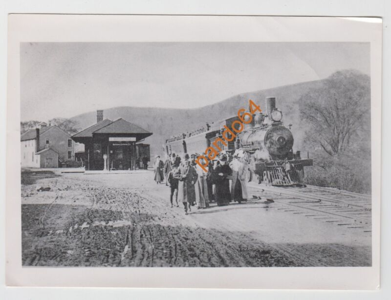 MARGARETVILLE NATIONAL EXPRESS #4 Steam Locomotive Original B&W Photograph TP11