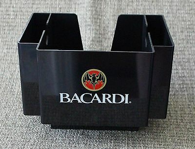 Bacardi Rum Napkin & Stir Stick Holders Home Bar Equipment  NEW