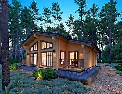 1440sq.ft Log House Kit Lh-135 Eco Friendly Wood Prefab Diy Building Cabin Home