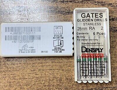 Dentsply Maillefer Gates Glidden Drills Stainless 28mm Ra 2 6pcs Switzerland