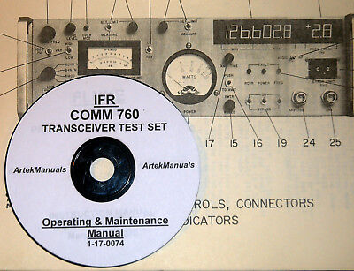 Ifr Comm 760 Transceiver Test Set Operating Service Manual