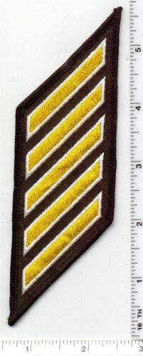 Multi Use/Agency Longevity 5-Stripe Gold Patch (Hash Mark) 25 - 29 Years/Service