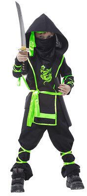 Boys Kids Ninja Power Fancy Dress Costume Child Cobra Dragon Ninja Fighter - Dragon Fighter Kostüm