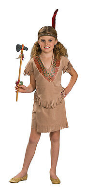 Girls Native American Costume Indian Fringe Tribal Halloween Fancy Dress Childs